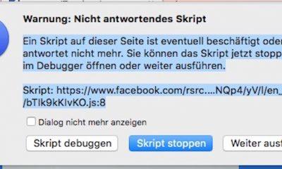 Das Posten auf Facebook-Seiten ist für viele User derzeit wegen eines Skript-Fehlers nicht möglich