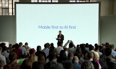 Mobile first to AI first: Sundar Pichai spricht das Mantra von Google-Gründer Larry Page: Eine Künstliche Intelligenz als Lösung für die Welt (Foto: Google Screenshot)