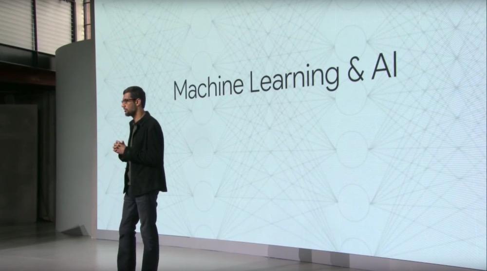 Google CEO Sundar Pichai: Maschinen lernen & Künstliche Intelligenz (Foto: Google Screenshot)